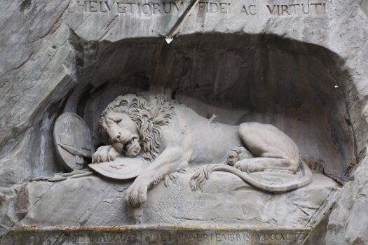 Luzern Gletschergarten und Löwendenkmal